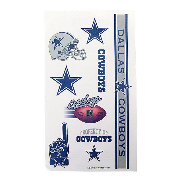 Dallas Cowboys Tattoo Sheet