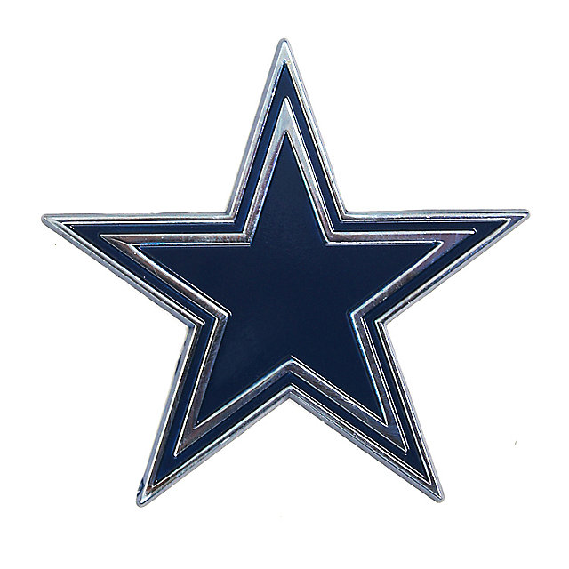 Dallas Cowboys Premium Metal Emblem Blue Star