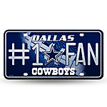 Dallas Cowboys Bling #1 Fan Auto Tag