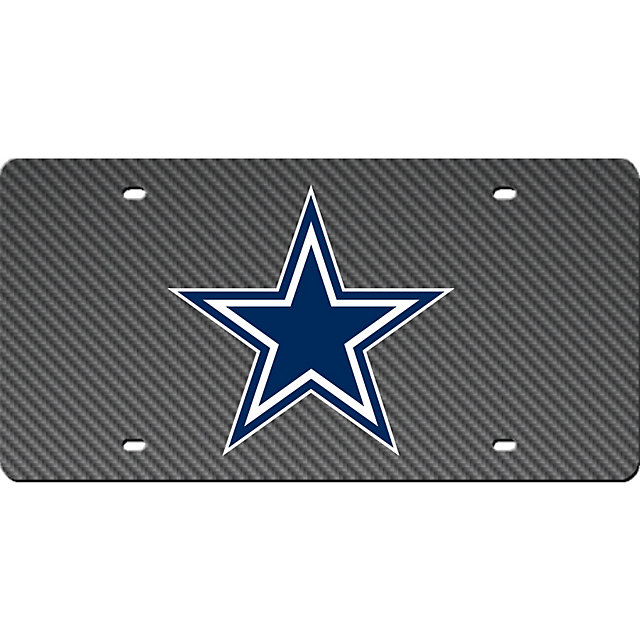 dallas cowboys carbon fiber license plate