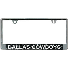 Dallas Cowboys Black Glitter License Plate Frame