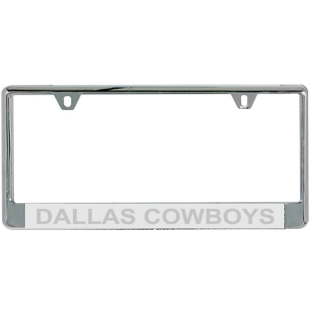dallas cowboys silver matte frost license plate frame