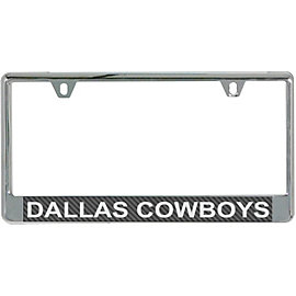 Dallas Cowboys Carbon Fiber License Plate Frame