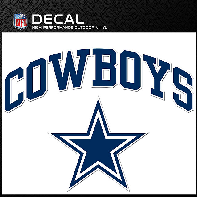 Dallas Cowboys Arched Decal