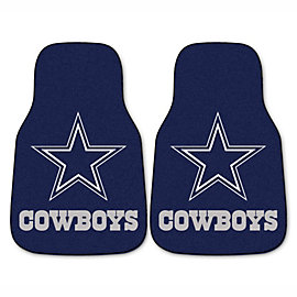 Dallas Cowboys Carpet Car Mats - Set of 2