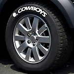 Dallas Cowboys Raised White Tire Lettering - Set of 2