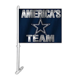 Dallas Cowboys America's Team 2-Sided Car Flag
