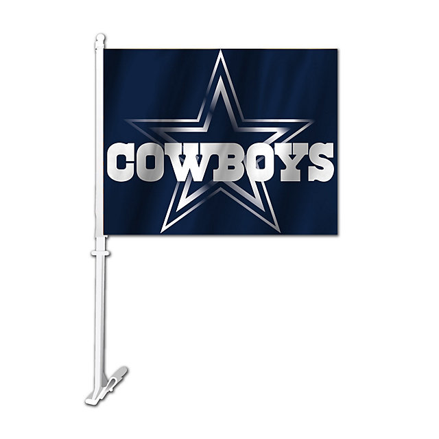 Dallas Cowboys Metallic Star 2-Sided Car Flag