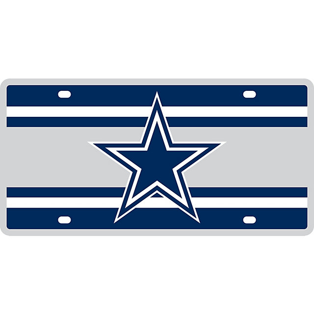 Dallas Cowboys Super Stripe License Plate