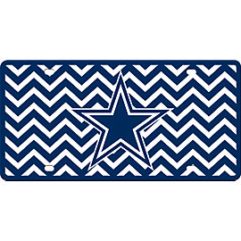 Dallas Cowboys Chevron License Plate
