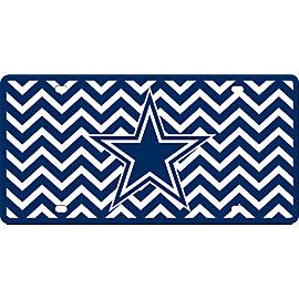 Dallas Cowboys Chevron License Plate