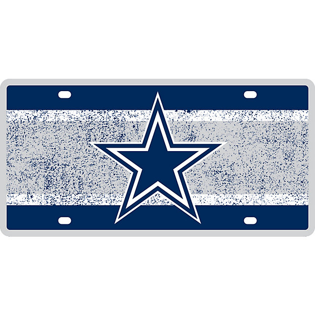 dallas cowboys vintage license plate