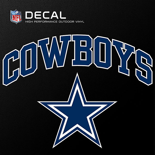 Dallas Cowboys 8x8 Arched Cowboys Decal