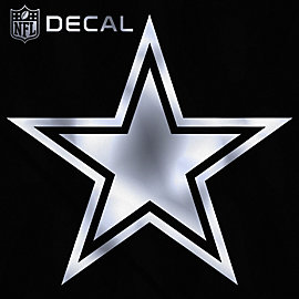 Dallas Cowboys 6x6 Metallic Decal