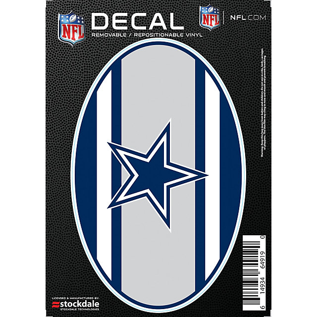 Dallas Cowboys 5x7 Super Stripe Decal