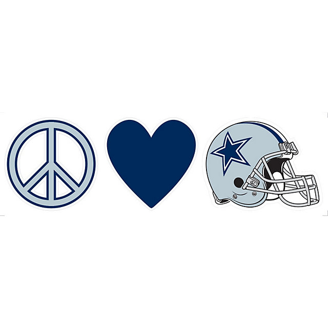 Dallas Cowboys 3x10 Peace Love Decal