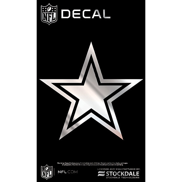 Dallas Cowboys 3x5 Metallic Star Decal