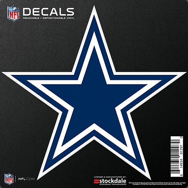 Dallas Cowboys 8x8 Repositionable Logo Decal