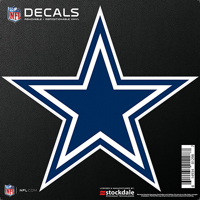 Dallas Cowboys 12x12 Repositionable Logo Decal