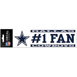 Dallas Cowboys 3x10 #1 Fan Decal Strip