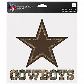 Dallas Cowboys 8x8 Camo Logo with Wordmark Decal