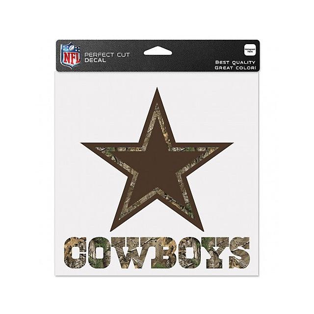Dallas Cowboys 8x8 Camo Logo with Wordmark Decal