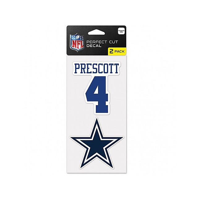 Dallas Cowboys Dak Prescott 2-Pack Perfect Cut Decal