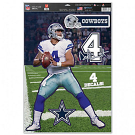 Dallas Cowboys 11 x 17 Dak Prescott Multi-Use Decal