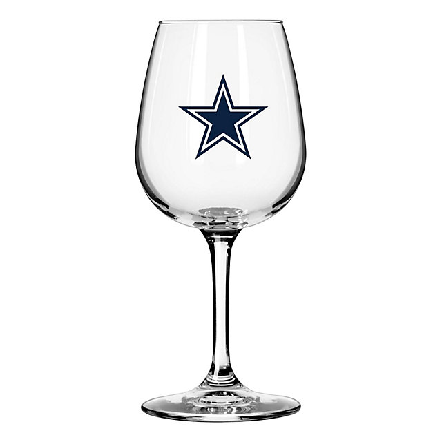 Dallas Cowboys 12 oz Wine Glass