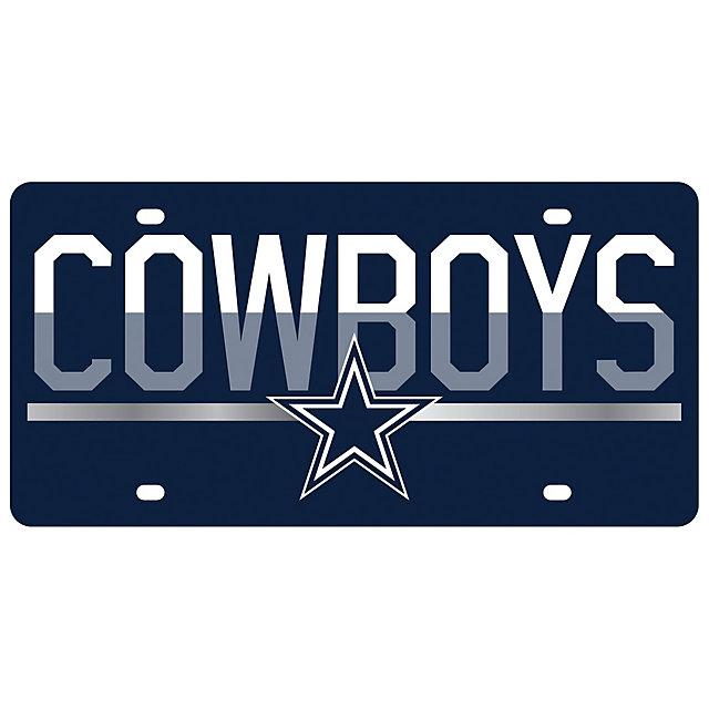 Dallas Cowboys Mirror Accent Duo-Tone License Plate