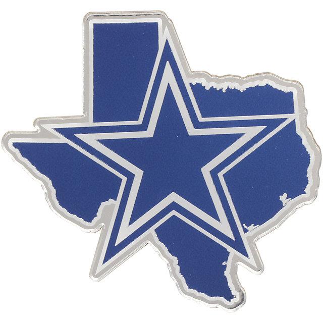 Dallas Cowboys Metallic Silver Texas State Emblem