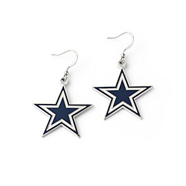 Dallas Cowboys Basic Star Dangler Earrings