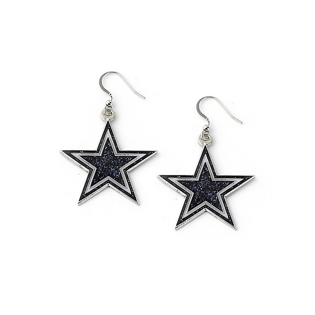 Dallas Cowboys Navy Glitter Star Earrings
