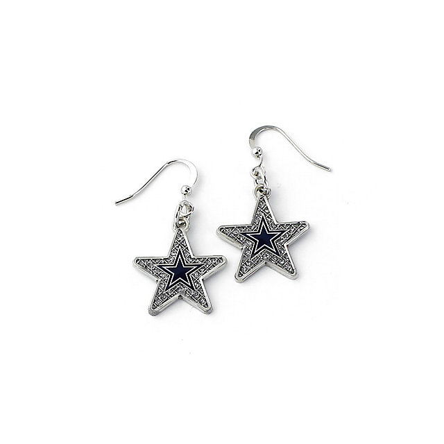 Dallas Cowboys Glitter Stone Star Earrings