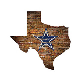 Dallas Cowboys State Map Team Logo Sign