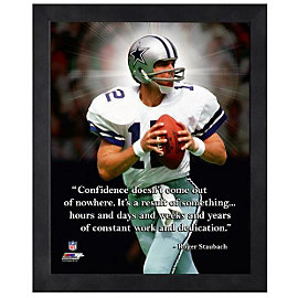 Dallas Cowboys 11 x 14 Roger Staubach Pro Quote Frame