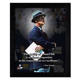 Dallas Cowboys 11 x 14 Tom Landry Pro Quote Frame