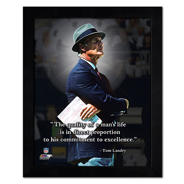 Dallas Cowboys 11 x 14 Tom Landry Pro Quote Frame