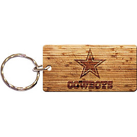 Dallas Cowboys Wood Keychain