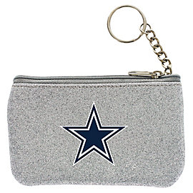 Dallas Cowboys Silver Sparkle Coin Purse
