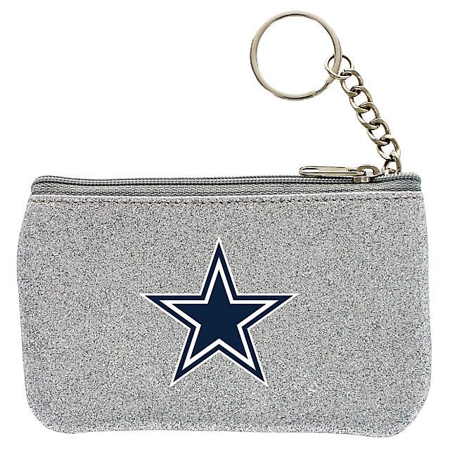 Dallas Cowboys Silver Sparkle Coin Purse