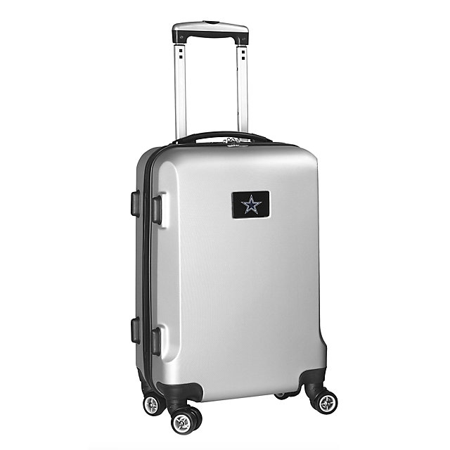 "Dallas Cowboys 20"" Silver Carry-on Spinner Luggage"