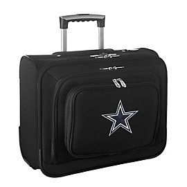 Dallas Cowboys Wheeled Black Laptop Overnighter Bag