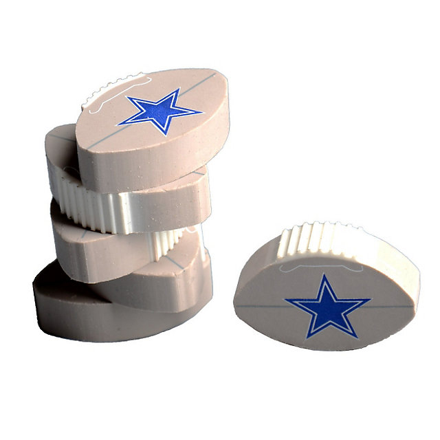 Dallas Cowboys 6 Pack Flat Football Erasers