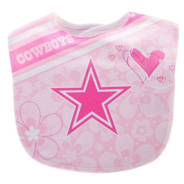 Dallas Cowboys Pink Mesh Flower Baby Bib