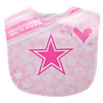 Dallas Cowboys Pink Mesh Flower Baby Bib