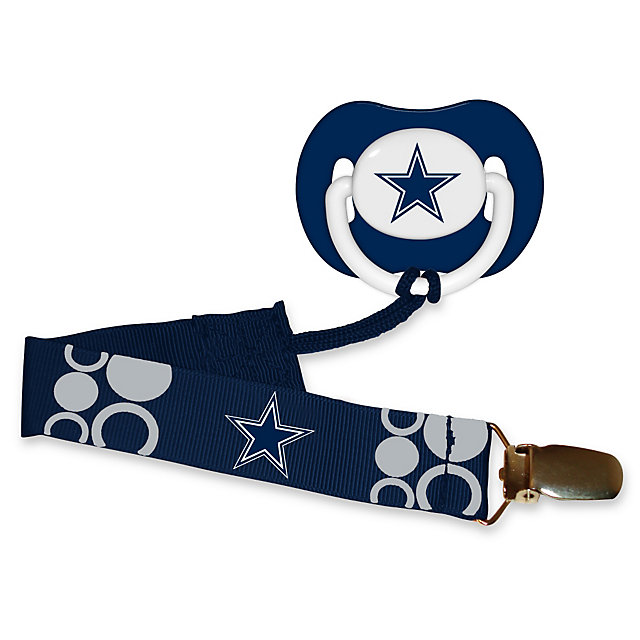 Dallas Cowboys Pacifier and Clip Set