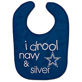 Dallas Cowboys I Drool Navy and Silver Bib