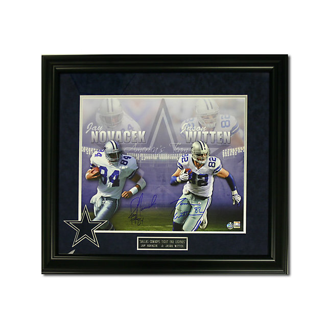 Dallas Cowboys Witten and Novacek Autographed Framed Photo
