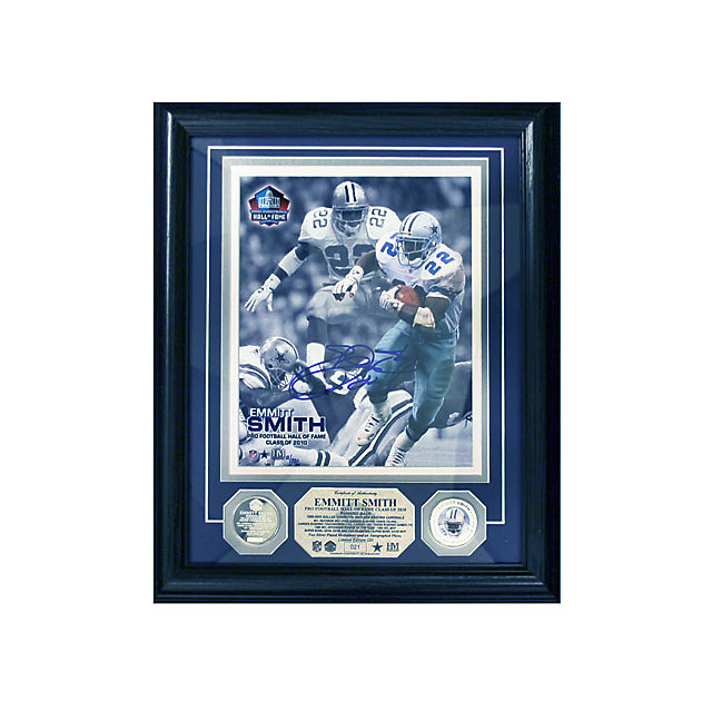 Dallas Cowboys Framed Emmitt Smith Hall of Fame Autographed Photo 13x16